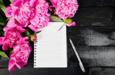 The Building Blocks of Resiliency To do list with bright pink peonies flowers